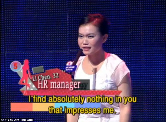 Chinese dating show if you one