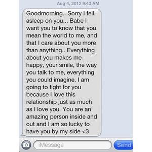 Sweet morning text for boyfriend