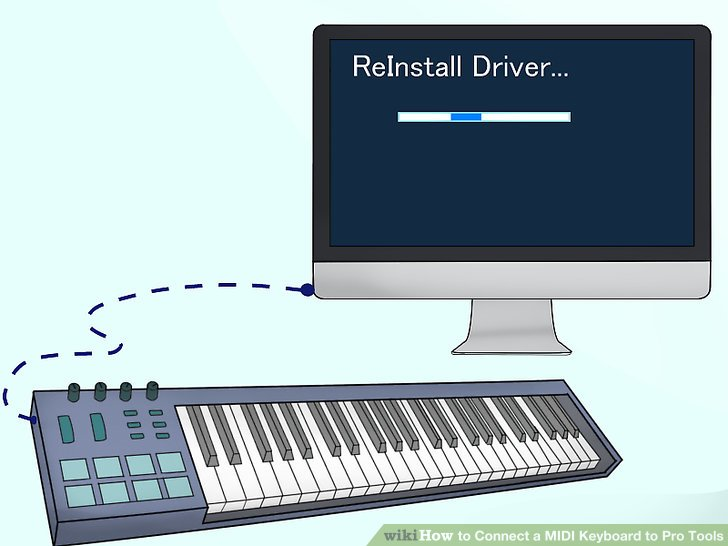 Hook up keyboard to pro tools
