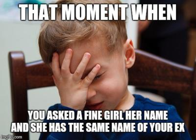 Dating someone with the same name as ex