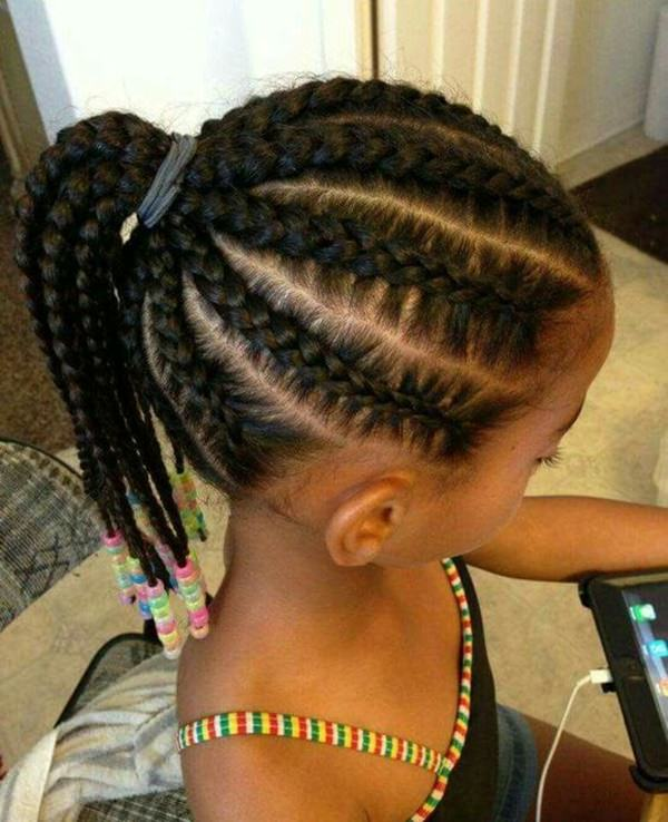 Different braid styles for little girls