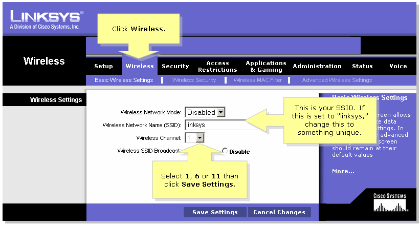 How to hook up cisco wireless router