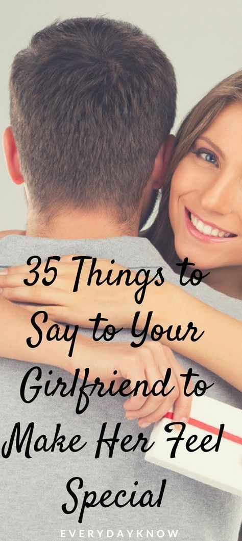 Things to say to make your girlfriend smile