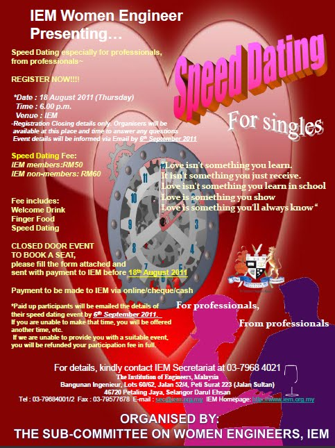 Malaysia speed dating agency