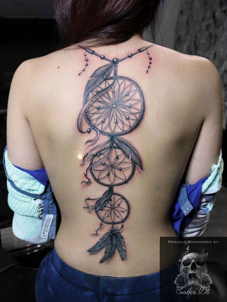 Back tattoos for girls