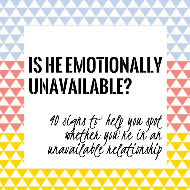 Being emotionally unavailable