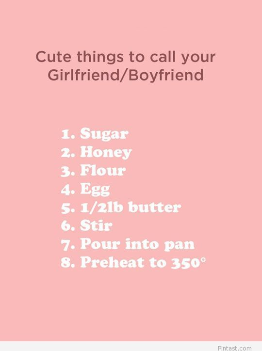 Funny names for girlfriend