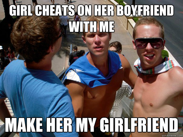 Girl cheated on her boyfriend with me