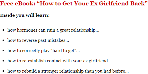 How to get ex girlfriend back