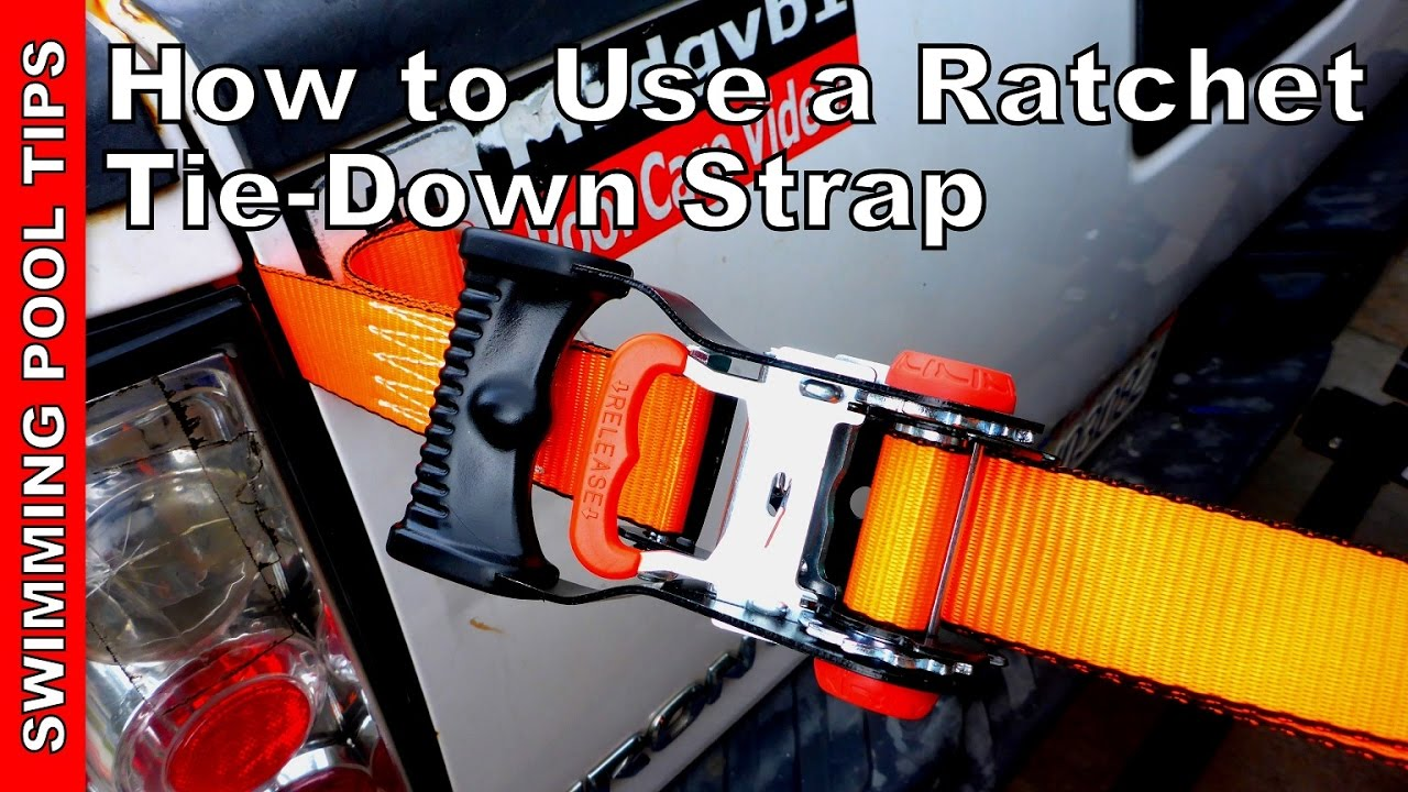 How to hook up ratchet straps