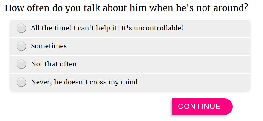 How to tell if you love a guy quiz