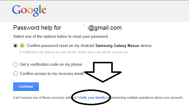 I cant recover my gmail password