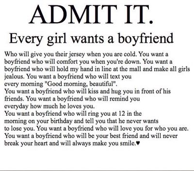 I want a boy that will quotes