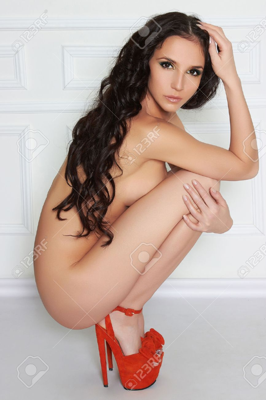Naked girl with sexy hair