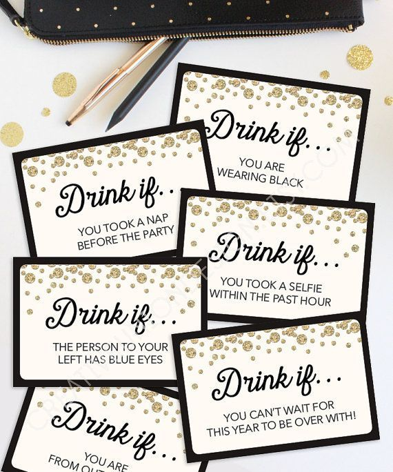New years drinking games for adults