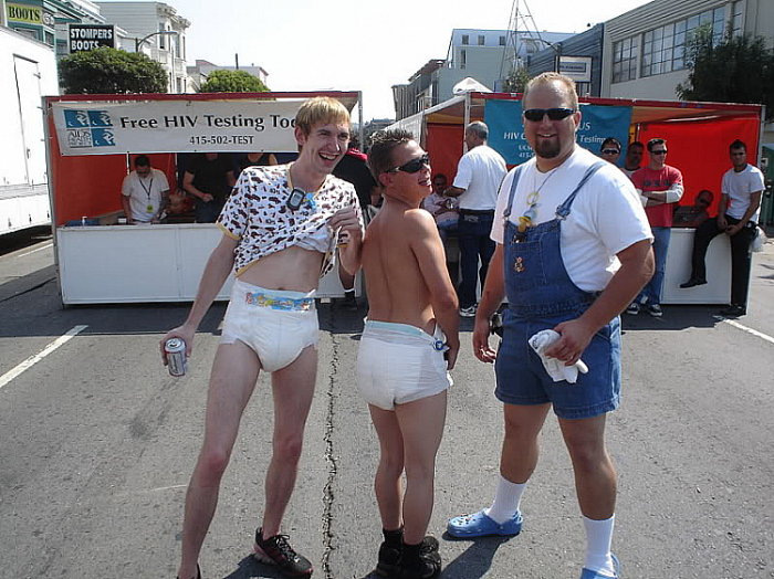 Pictures of adults wearing diapers