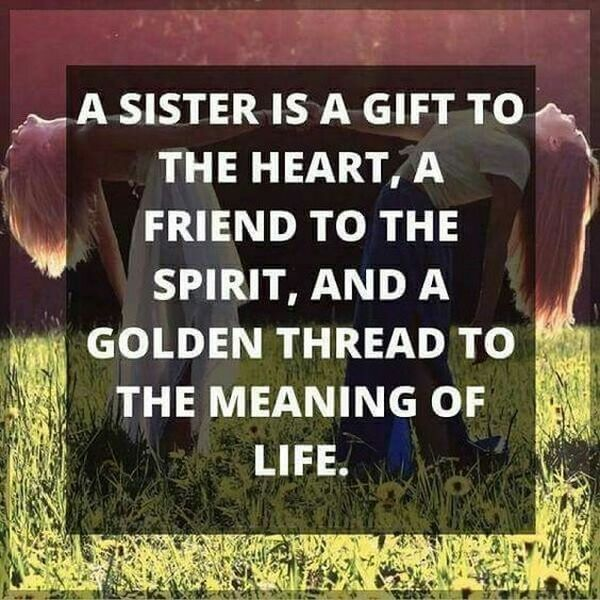 Quote from sister to brother