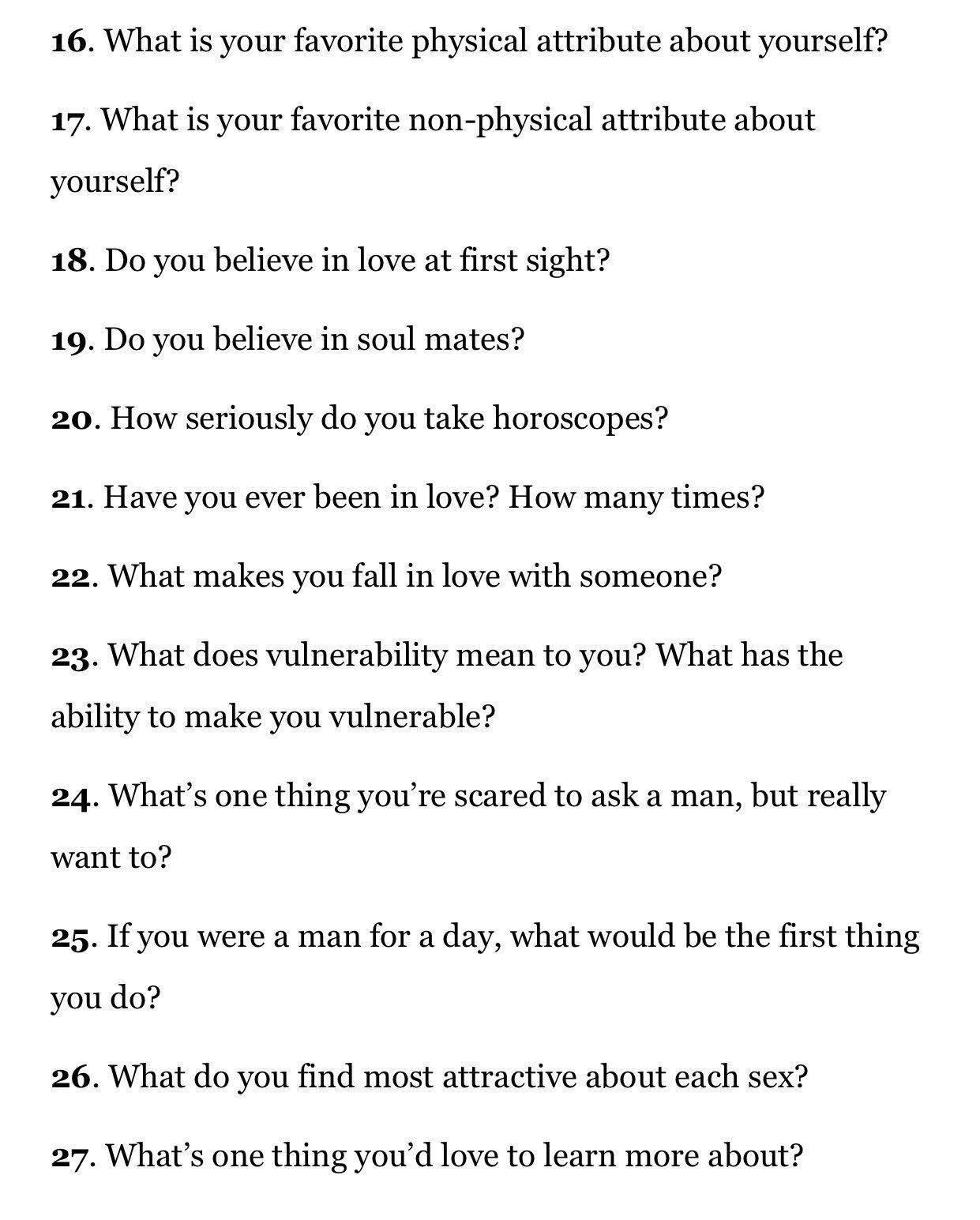 Serious love questions to ask your girlfriend