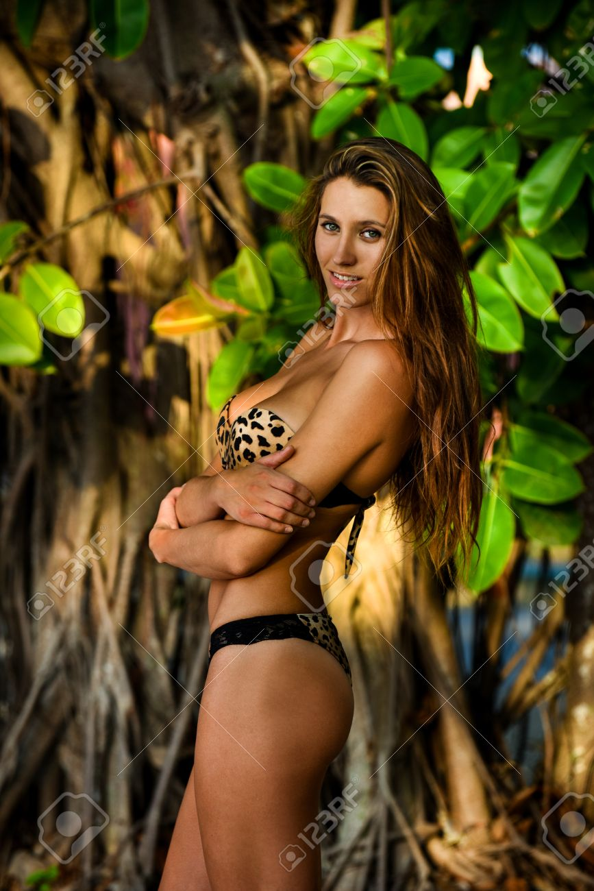 Sexy girl in jungle