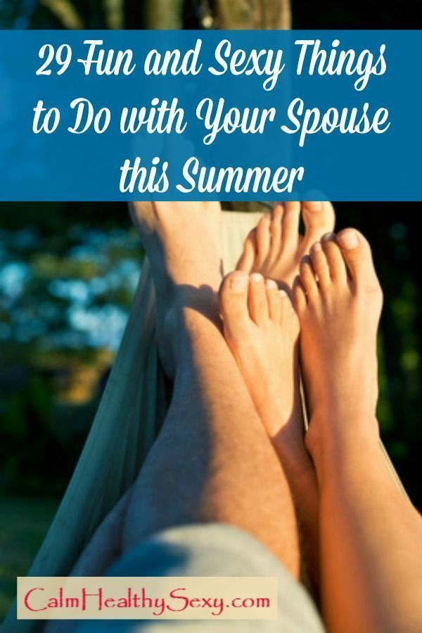 Sexy things to do with your wife