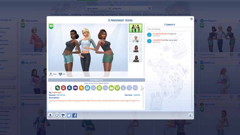 Sims 3 pregnancy mod teenager