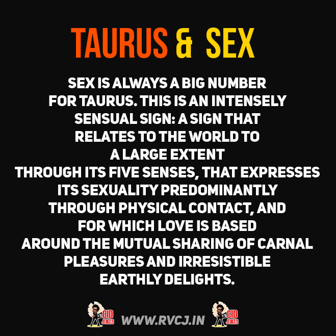 Taurus and sexuality