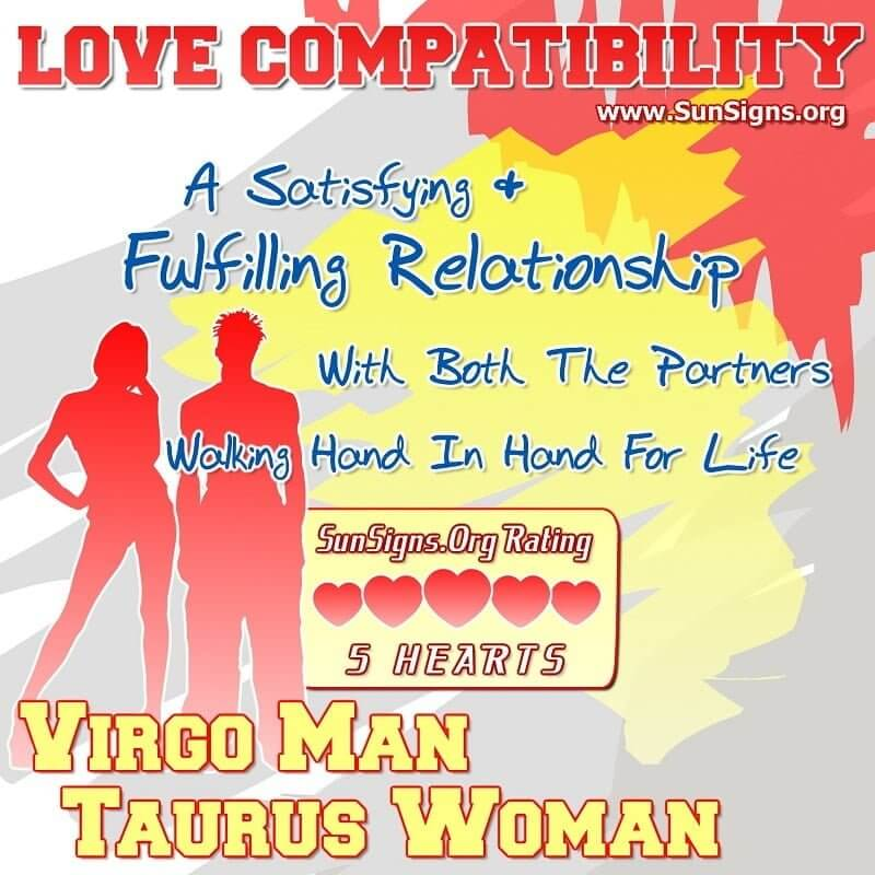 Taurus woman and virgo man in bed