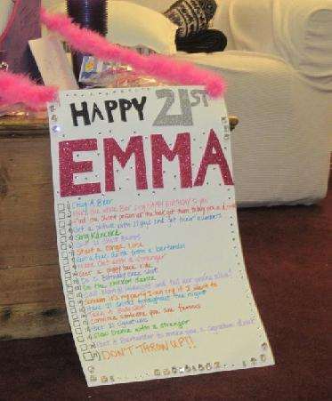Things to do for 21st birthday