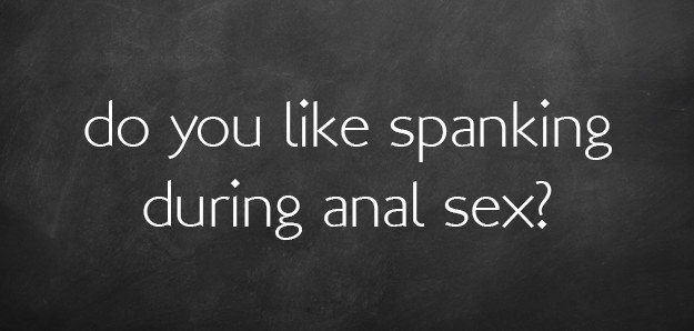 Thoughts on anal sex