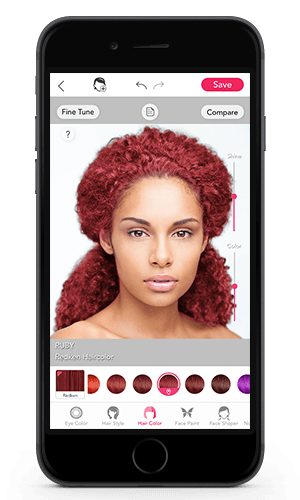 Try different hair colors on your picture