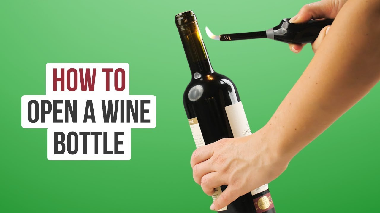 Ways to open wine bottles without a corkscrew