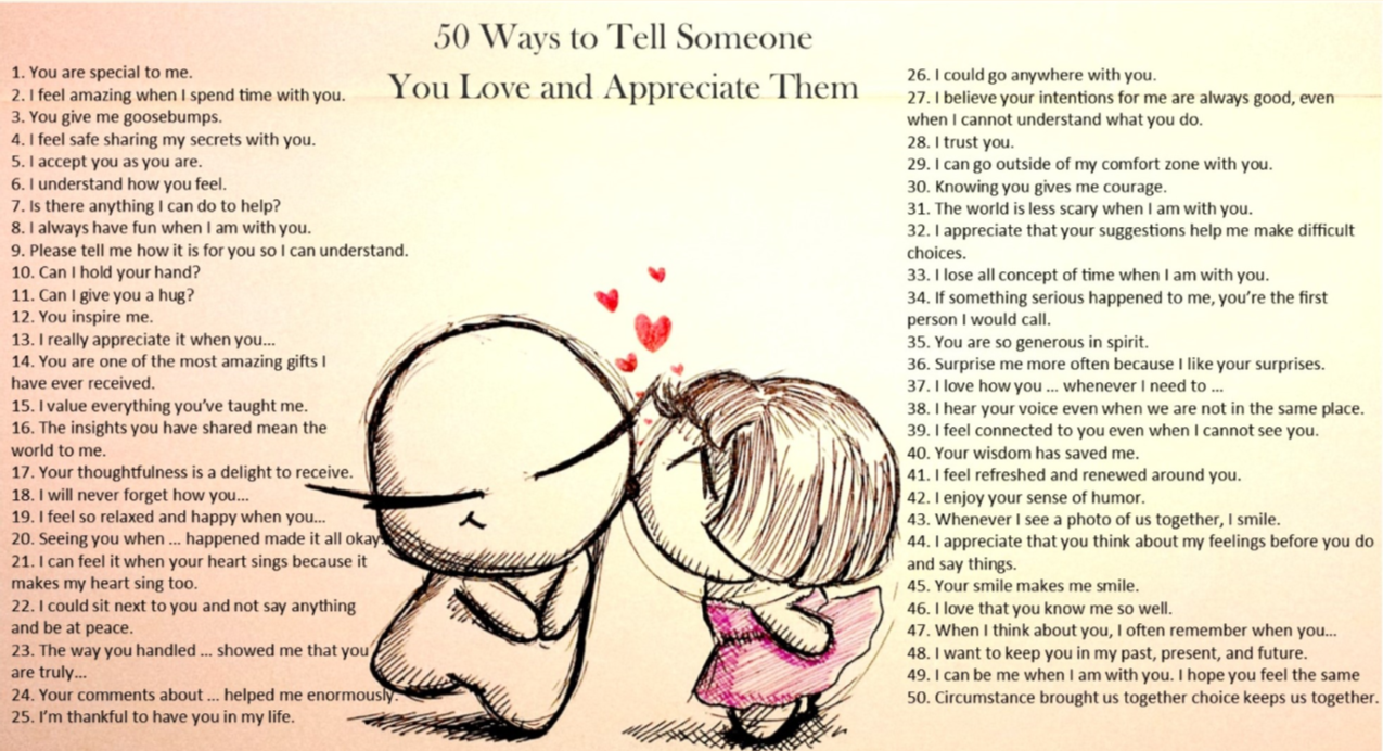 Ways to tell someone you love them