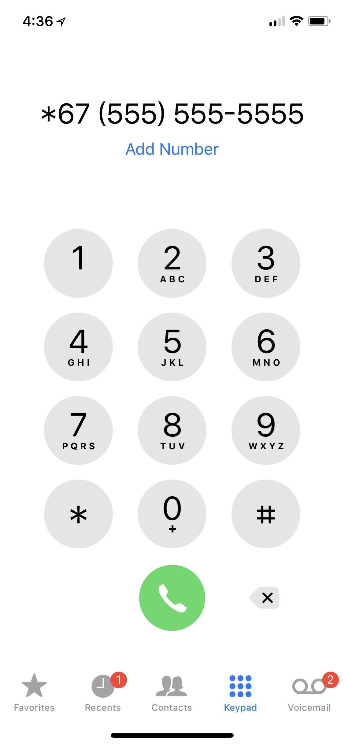 What does a restricted number mean