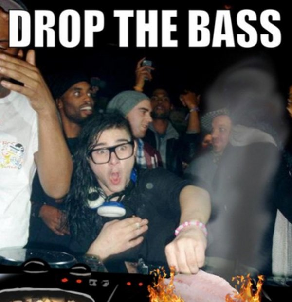 What does drop the bass mean