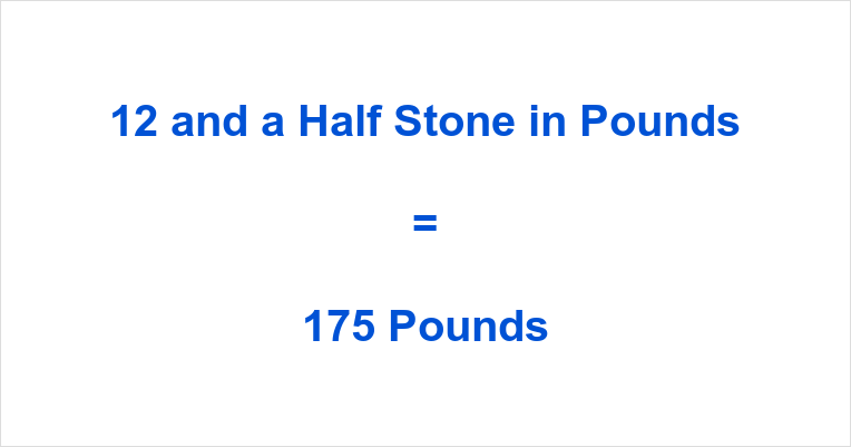 What is half a stone in pounds