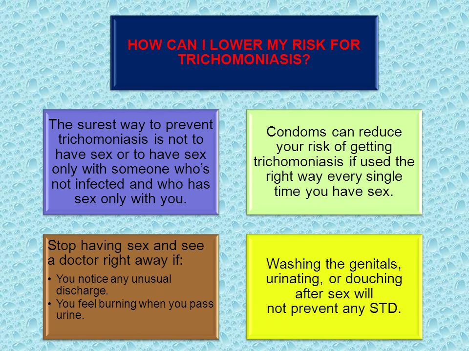What other ways can you get trichomoniasis