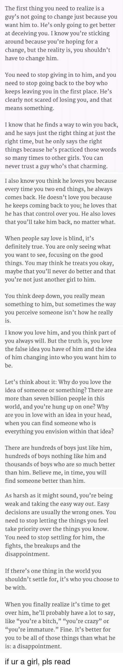 What to do when you love a guy