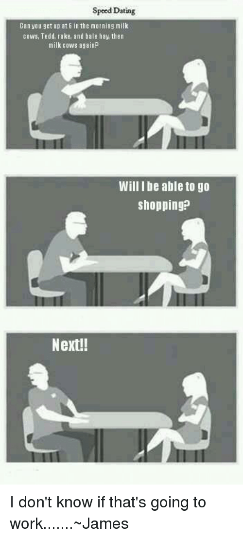 Would you go speed dating