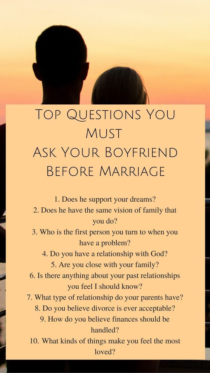 Questions you should ask someone before dating