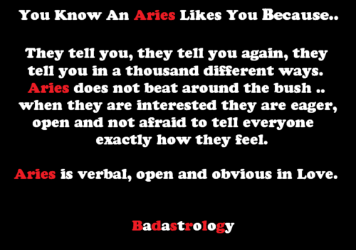 How to know if an aries likes you