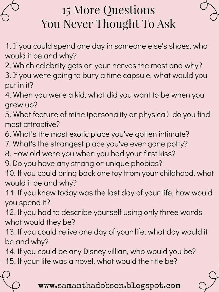Question to ask your boyfriend about you