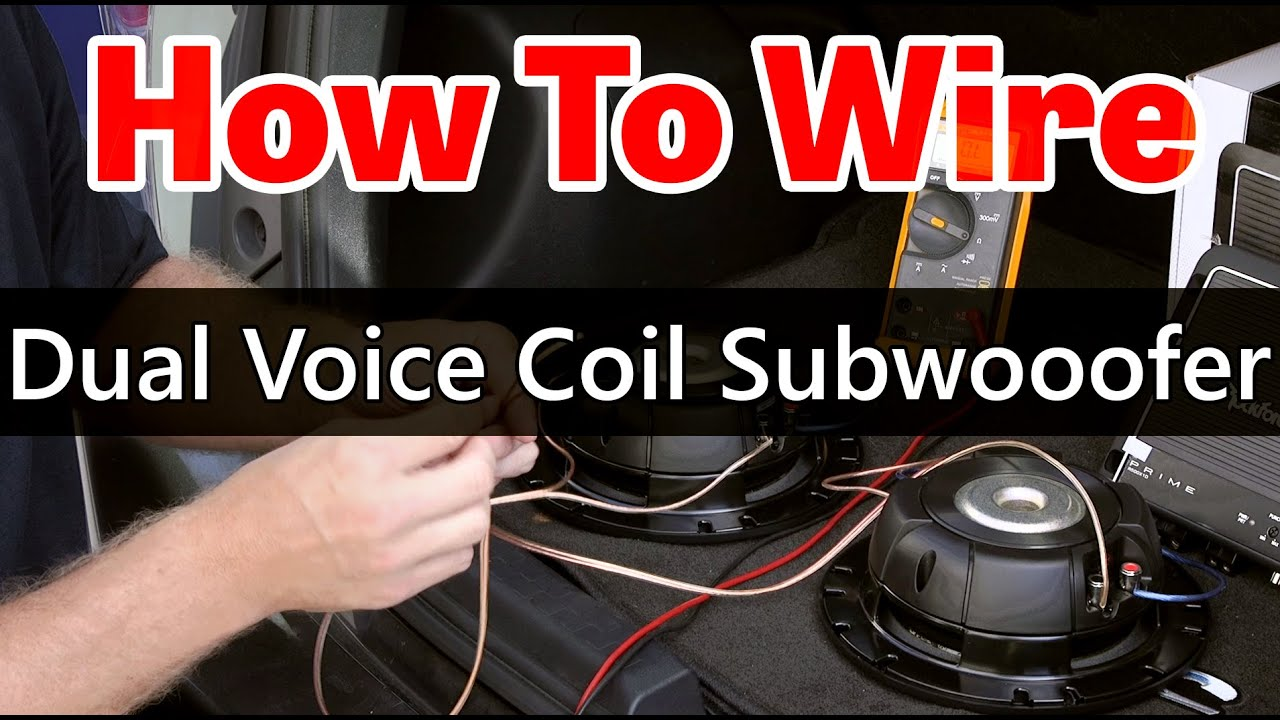 How to wire dual 4 ohm sub to 2 ohm