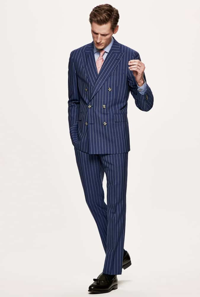What shirt to wear with pinstripe suit