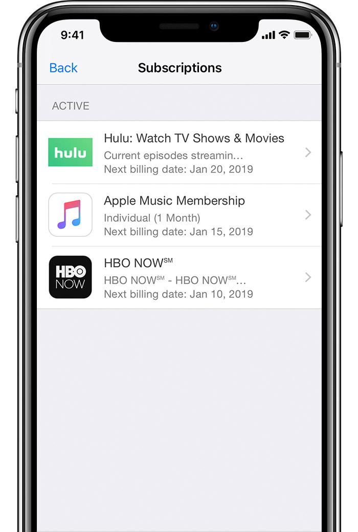 How to cancel an app store subscription