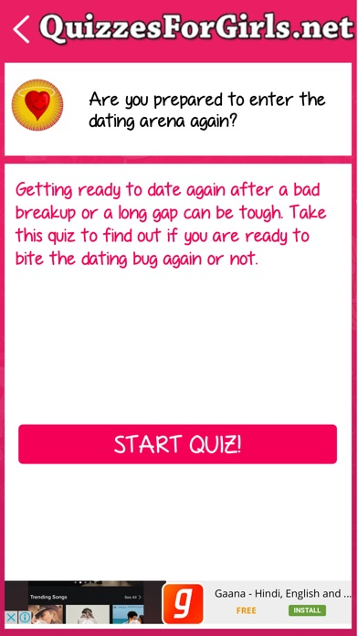 Dating quizzes for girls