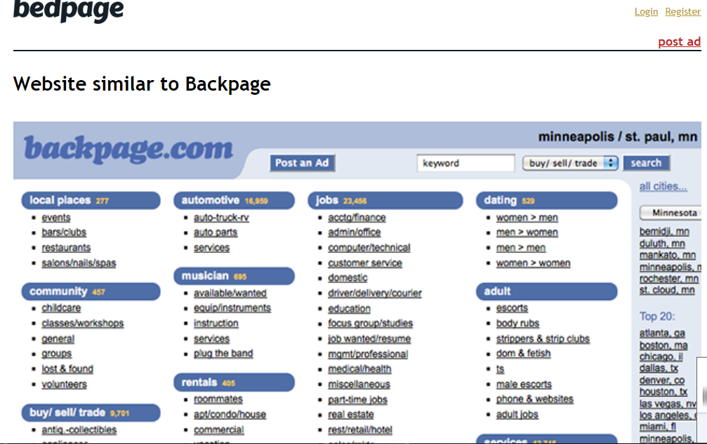 11 Other Sites Like Backpage That You May not Know