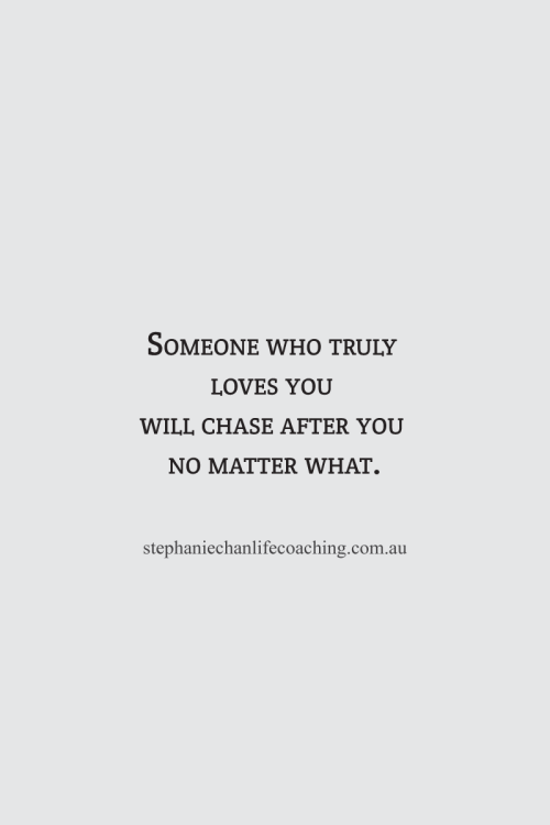 If someone truly loves you will they come back