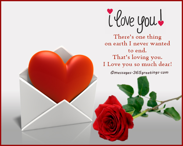 Sweet message for the one you love